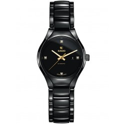Rado Ladies True Diamonds Automatic Black Ceramic Bracelet Watch R27242712