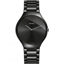 Rado Ladies True Thinline Quartz Black Ceramic Bracelet Watch R27741182