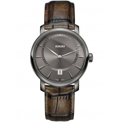 Rado Mens DiaMaster XL Brown Leather Strap Watch R14135306