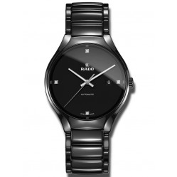 Rado Mens True Automatic Diamond Set Dial Black Bracelet Watch R27056852
