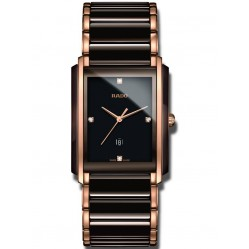 Rado Mens Integral Diamonds Quartz Date Black and Rose Ceramic Bracelet Watch R20219712