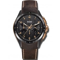 Rado Mens HyperChrome Two Colour Ceramic Leather Strap Watch R32168155