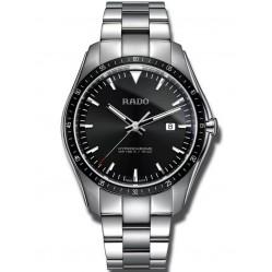 Rado Mens HyperChrome Quartz Black Dial Bracelet Watch R32502153