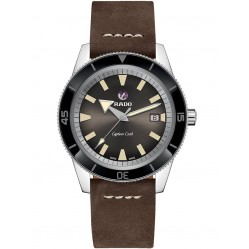Rado Captain Cook Automatic Brown Leather Strap Watch R32505305