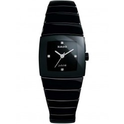 Rado Ladies Sinatra Diamond Black Ceramic Bracelet Watch R13726702