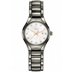 Rado Ladies True Diamonds Quartz Grey Ceramic Bracelet Watch R27060902 S