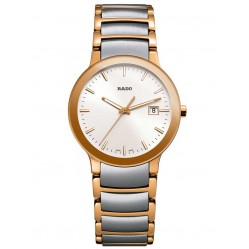 Rado Ladies Centrix Quartz Grey and Rose Ceramic Bracelet Watch R30555103 S