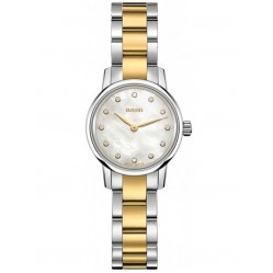 Rado Ladies Coupole Classic Diamonds Quartz Two Tone Bracelet Watch R22890952 XS