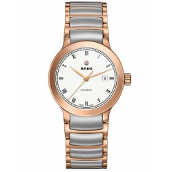 Rado Ladies Centrix Automatic Grey and Rose Ceramic Bracelet Watch R30183013 S