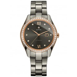 Rado Ladies Hyperchrome Diamond Ceramic Bracelet Watch R32523702 M