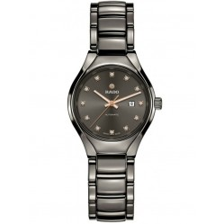 Rado Ladies True Diamonds Automatic Grey Ceramic Bracelet Watch R27243732