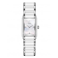 Rado Ladies Integral Diamonds Quartz White and Silver Ceramic Bracelet Watch R20215902 S