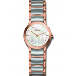 Rado Ladies Centrix Quartz Grey and Rose Ceramic Bracelet Watch R30186923
