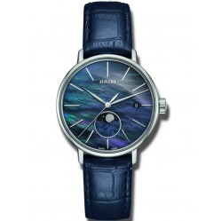 Rado Ladies Coupole Classic Moonphase Quartz Blue Leather Strap Watch R22883915