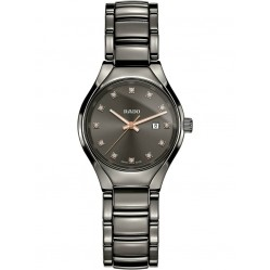Rado Ladies True Diamonds Quartz Grey Ceramic Bracelet Watch R27060732