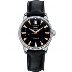 Longines Conquest Heritage Black Leather Strap Watch L16114522