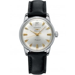 Longines Conquest Heritage Black Leather Strap Watch L16114752