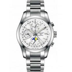 Longines Conquest Classic Moonphase Chronograph Silver Dial Bracelet Watch L27984726