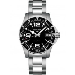 Longines HydroConquest Automatic Black Dial Bracelet Watch L37414566