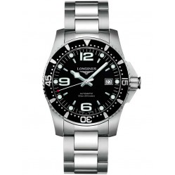 Longines HydroConquest Automatic Black Dial Bracelet Watch L37424566