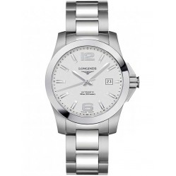 Longines Conquest Silver Dial Bracelet Watch L36764766