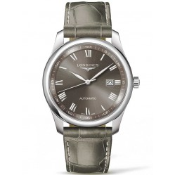 Longines Master Light Grey Dial Leather Strap Watch L27934713