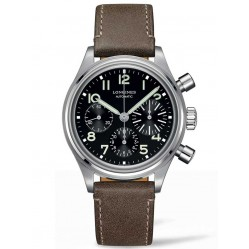 Longines Heritage Avigation BigEye Special Edition Black Dial Brown Leather Strap Watch L28164532