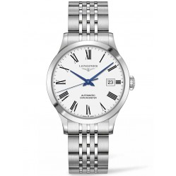Longines Record White Dial Bracelet Watch L28204116