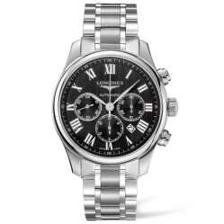 Longines Master Black Chronograph Dial Bracelet Watch L28594516