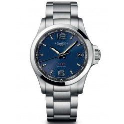 Longines Conquest V.H.P Blue Dial Bracelet Watch L37164966