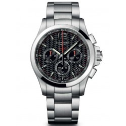 Longines Conquest V.H.P Chronograph Black Dial Bracelet Watch L37174666