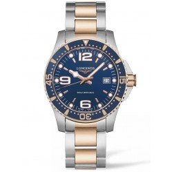 Longines HydroConquest Quartz Blue Dial Two Colour Bracelet Watch L37403987