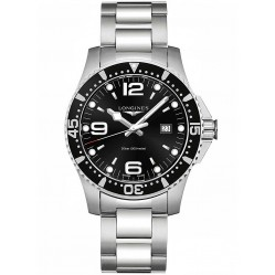 Longines HydroConquest Quartz Black Dial Bracelet Watch L38404566
