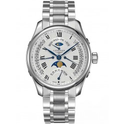 Longines Master Moonphase Silver Dial Bracelet Watch L27394716