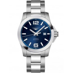 Longines Conquest Blue Dial Bracelet Watch L37784966