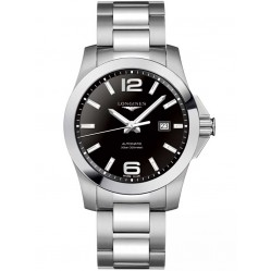 Longines Conquest Black Dial Bracelet Watch L37784586