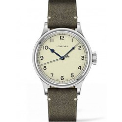 Longines Heritage Military Green Leather Strap Watch L28194932
