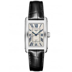 Longines DolceVita Silver Dial Leather Strap Watch L57574710