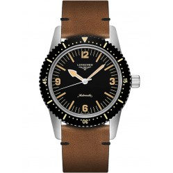 Longines Heritage Skin Diver Brown Leather Strap Watch L28224562