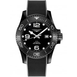 Longines Hydroconquest Automatic Black Dial Rubber Strap Watch L37844569