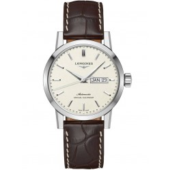 Longines 1832 Automatic Cream Dial Brown Leather Strap Watch L48274922