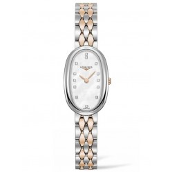 Longines Symphonette Diamond Set Mother Of Pearl Dial Two Colour Bracelet Watch L23055877