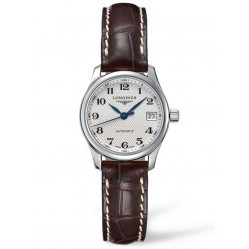 Longines Master Silver Dial Dark Brown Leather Strap Watch L21284783
