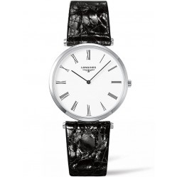 Longines La Grande Classique White Dial Black Leather Strap Watch L47554112