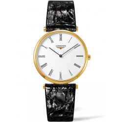 Longines La Grande Classique White Dial Black Leather Strap Watch L47552112