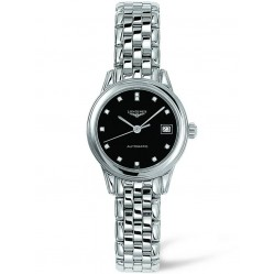 Longines Flagship Diamond Set Black Dial Bracelet Watch L42744576