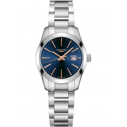 Longines Conquest Blue Dial Silver Bracelet Watch L22864926