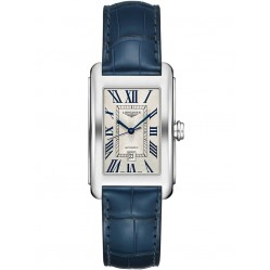 Longines DolceVita Silver Dial Blue Leather Strap Watch L57574719