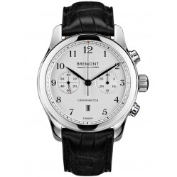 Bremont ALT1-C CLASSIC Polished White Dial Strap Watch ALT1-C/PW