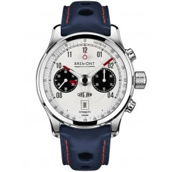 Bremont JAGUAR MKII White Dial Strap Watch BJ-II/BK